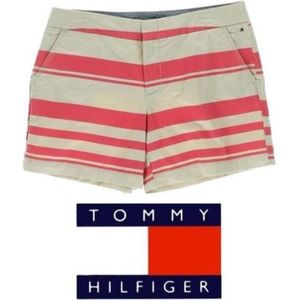 Tommy Hilfiger Striped Chino Shorts Peyote/Rouge
